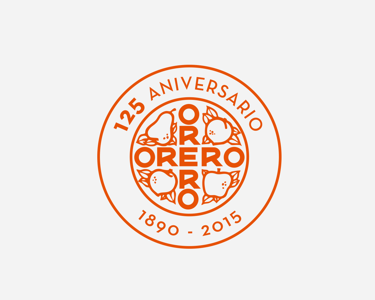 Marca 125 aniversario Viveros Orero - Diseñada por Momo & Cía.