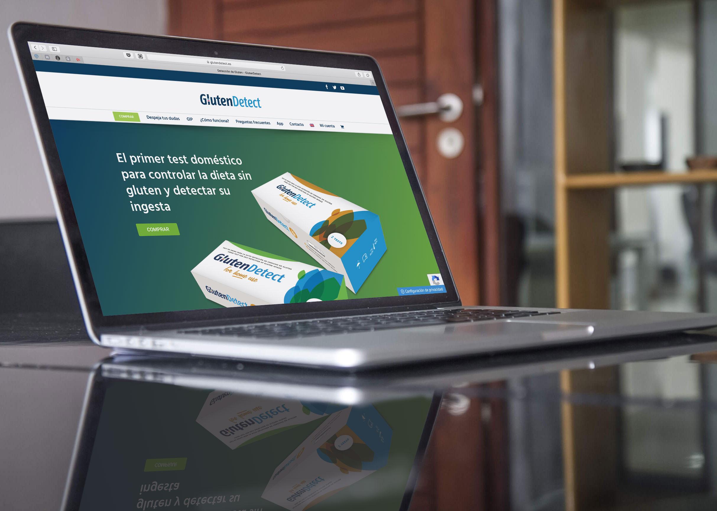 Web y tienda online GlutenDetect