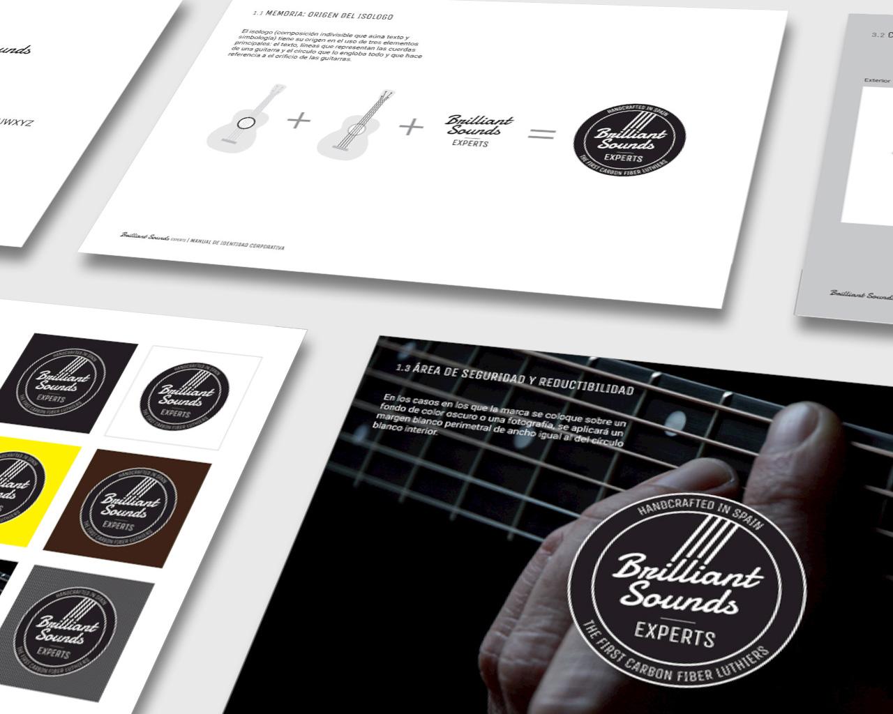 Manual de identidad corporativa de Brilliant Sounds Experts