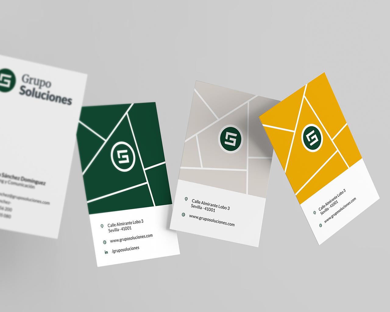 Tarjetas de Visita Grupo Soluciones - Diseño de Momo & Cía.