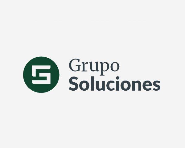 Logo Grupo Soluciones - Diseñado por Momo & Cía.