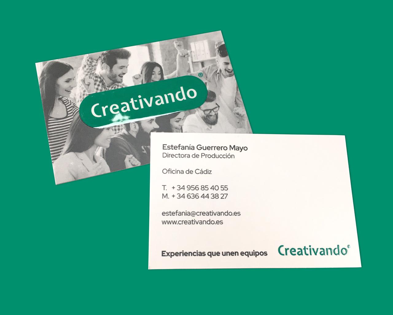 Creativando - Tarjetas de visita - Diseño: Momo & Cía.