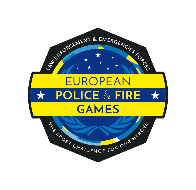 Logo European Police and Fire Games - Versión a color