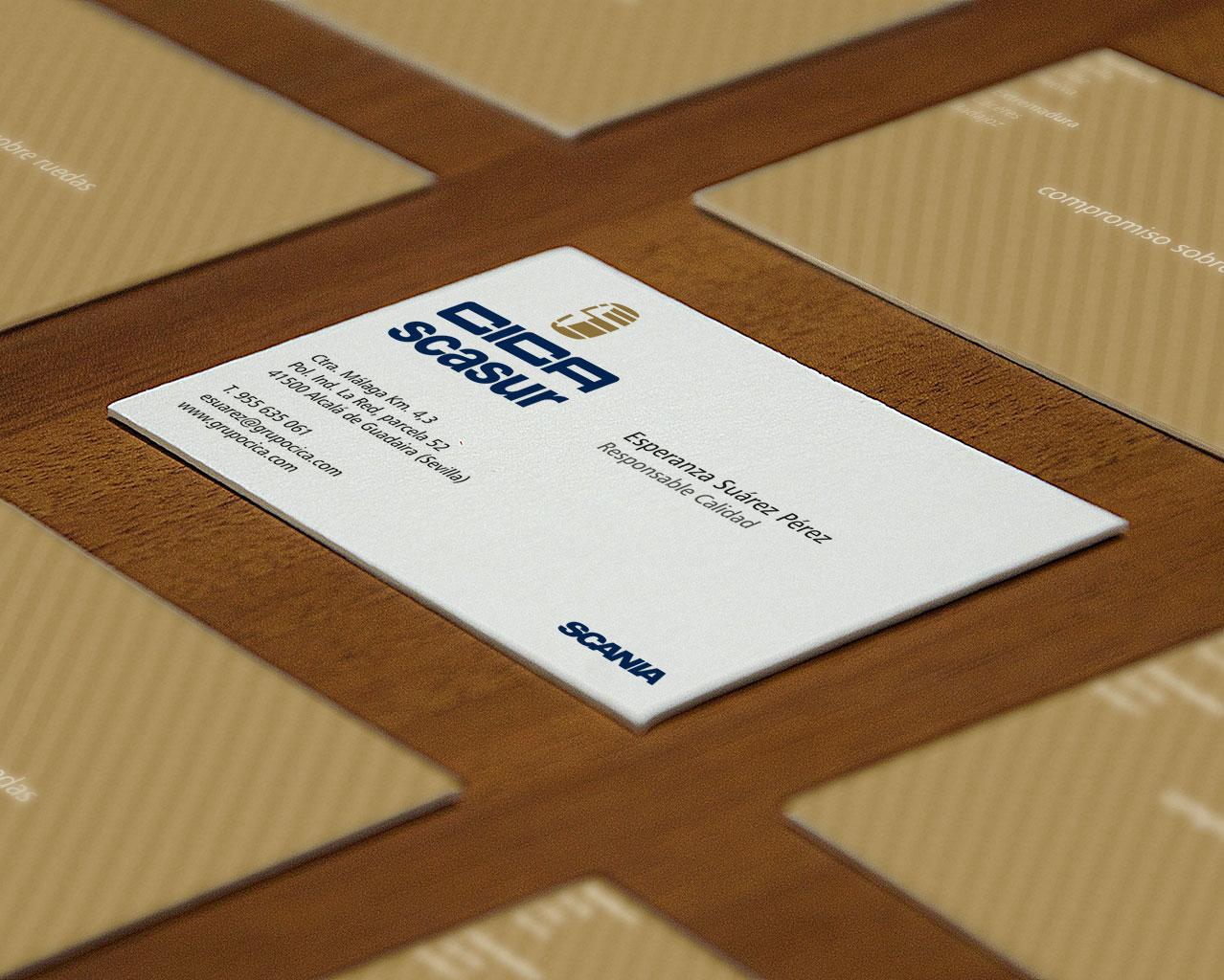 Tarjetas de visita CICA-Scasur