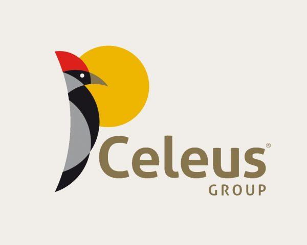 Marca de Celeus Group, Colombia. Diseñada por Momo & Cía.