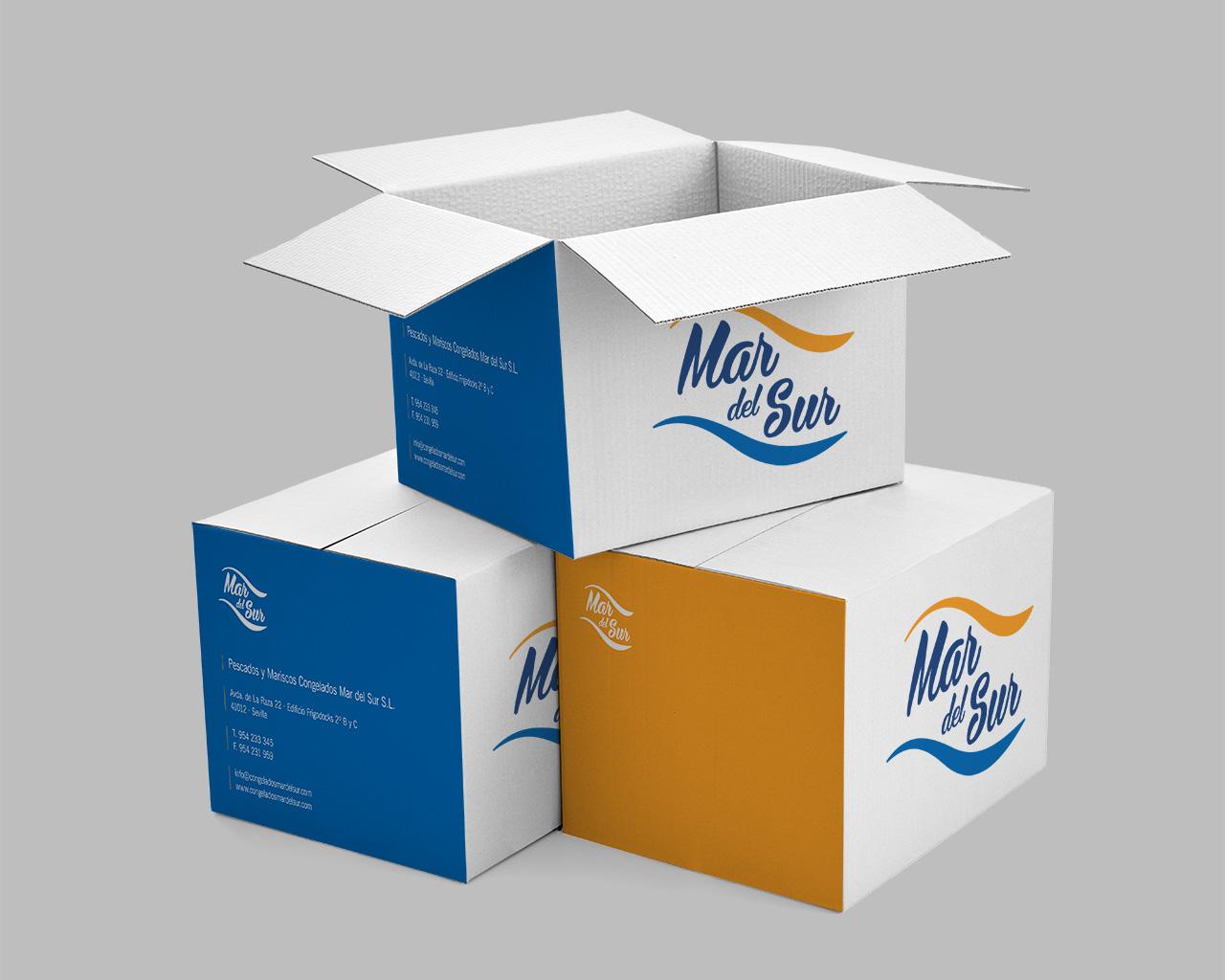 Cajas Mar del Sur Congelados - Diseño de Momo & Cía.