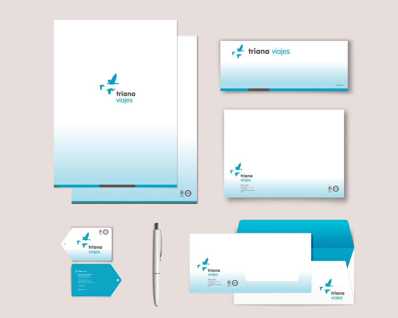 Diseño de identidad corporativa para Triana Viajes, por Momo & Cía.