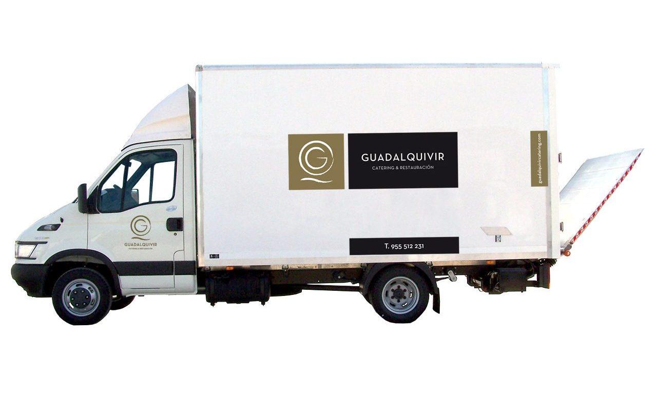 Rotulación furgoneta Guadalquivir Catering