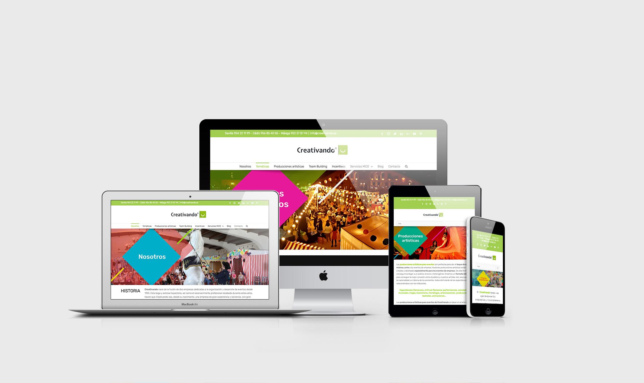 Web de Creativando - Diseño de Momo & Cía.