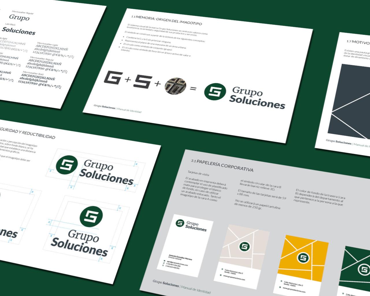 Manual de Identidad Visual Corporativa Grupo Soluciones