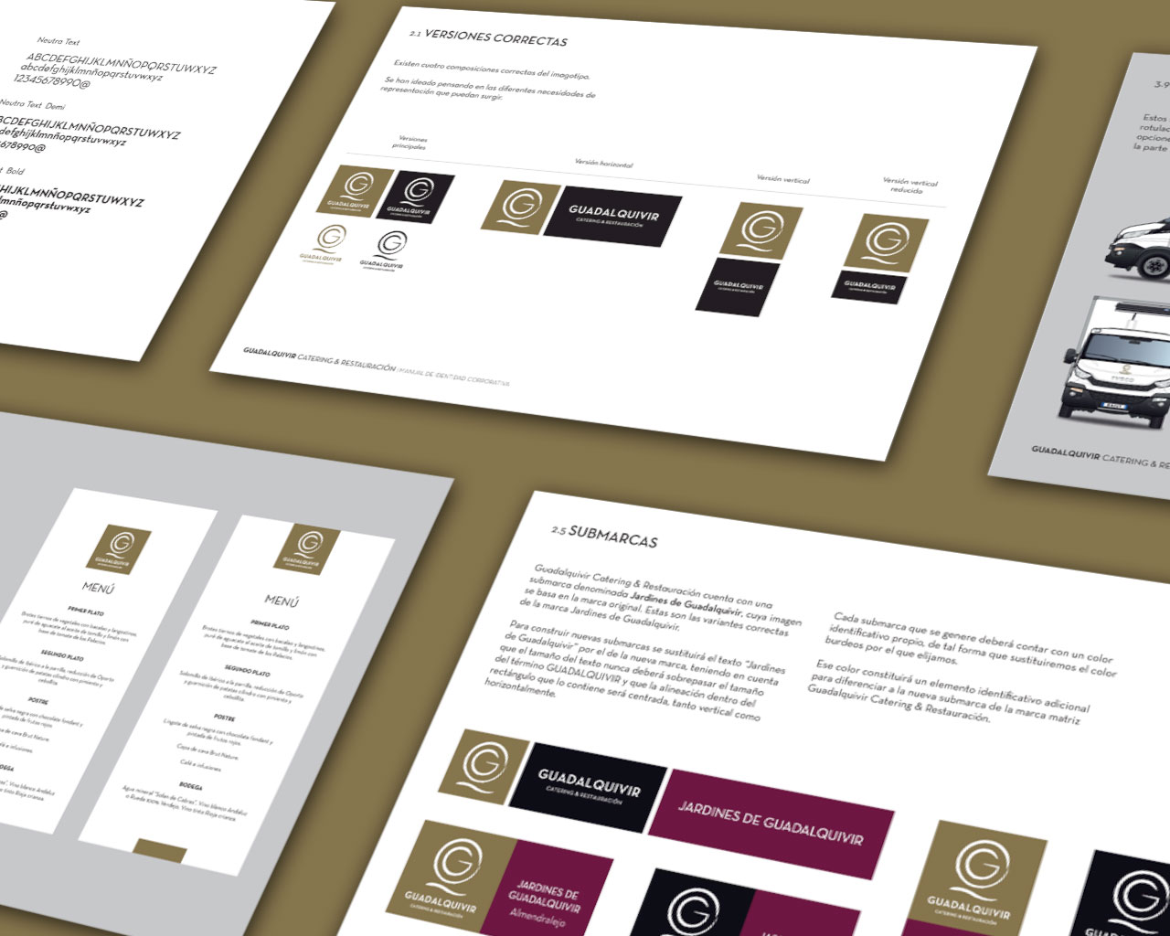 Manual de Identidad Visual Corporativa Guadalquivir Catering