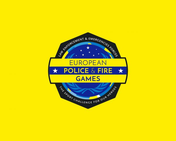 Logo European Police & Fire Games - Diseño por Momo & Cía.