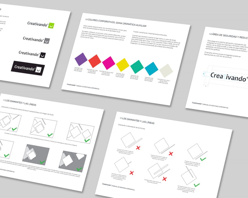 Manual de identidad corporativa de Creativando