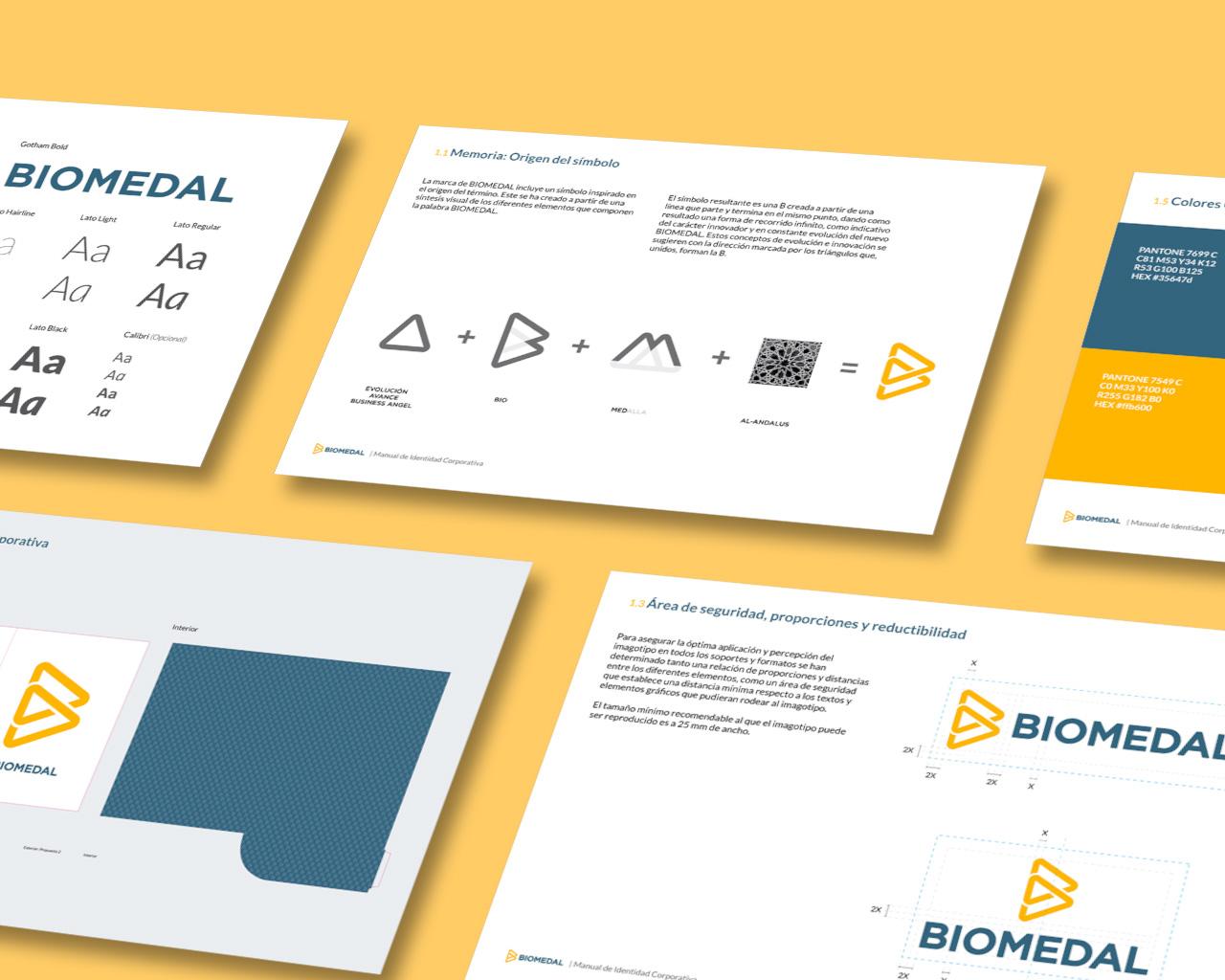 Manual de identidad corporativa de Biomedal