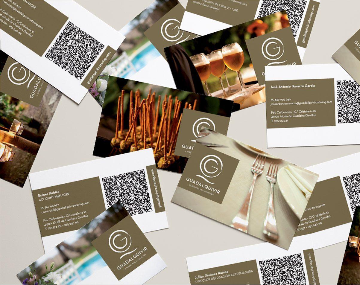Tarjetas de visita Guadalquivir Catering