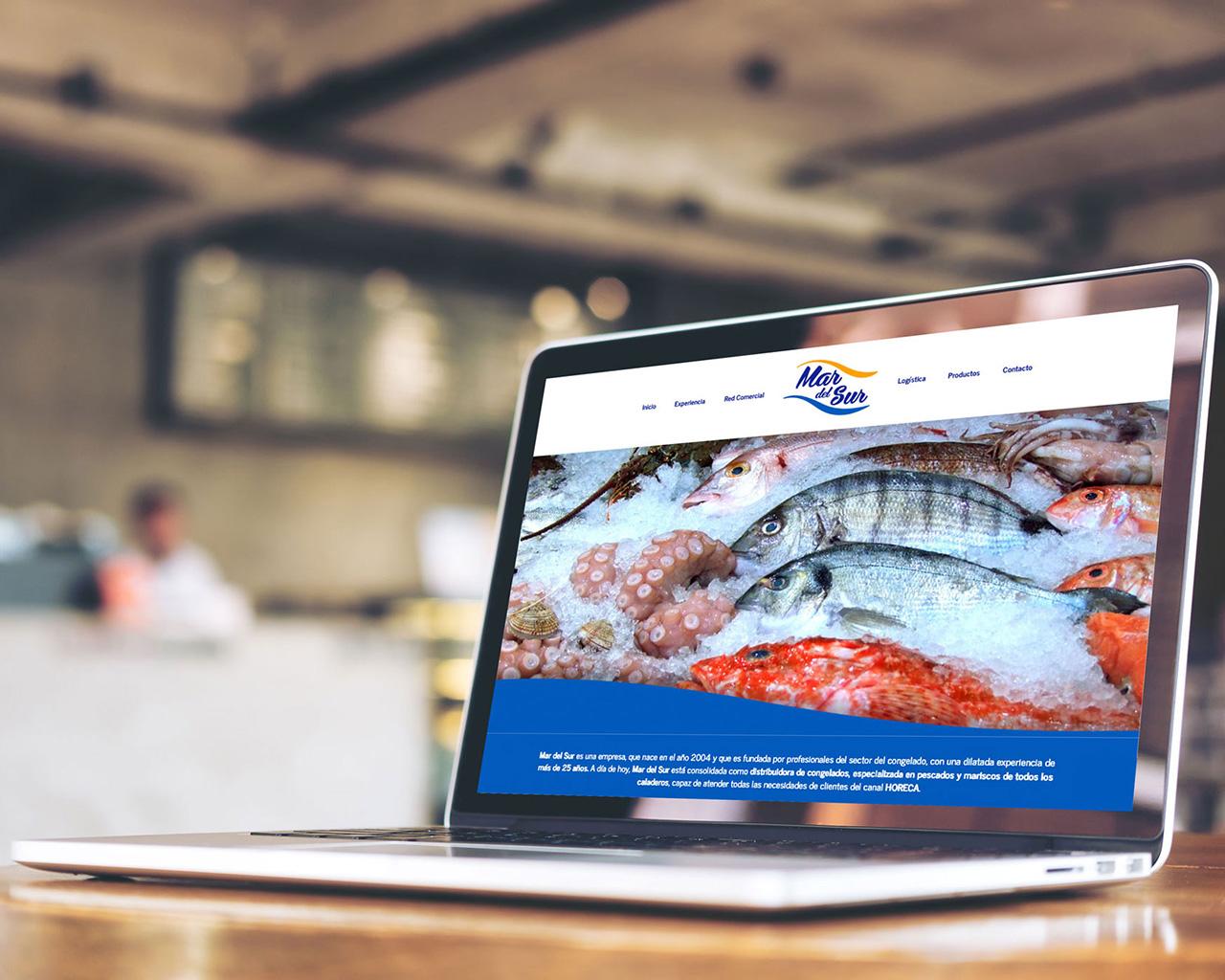 Web Mar del Sur Congelados diseñada por Momo & Cía.