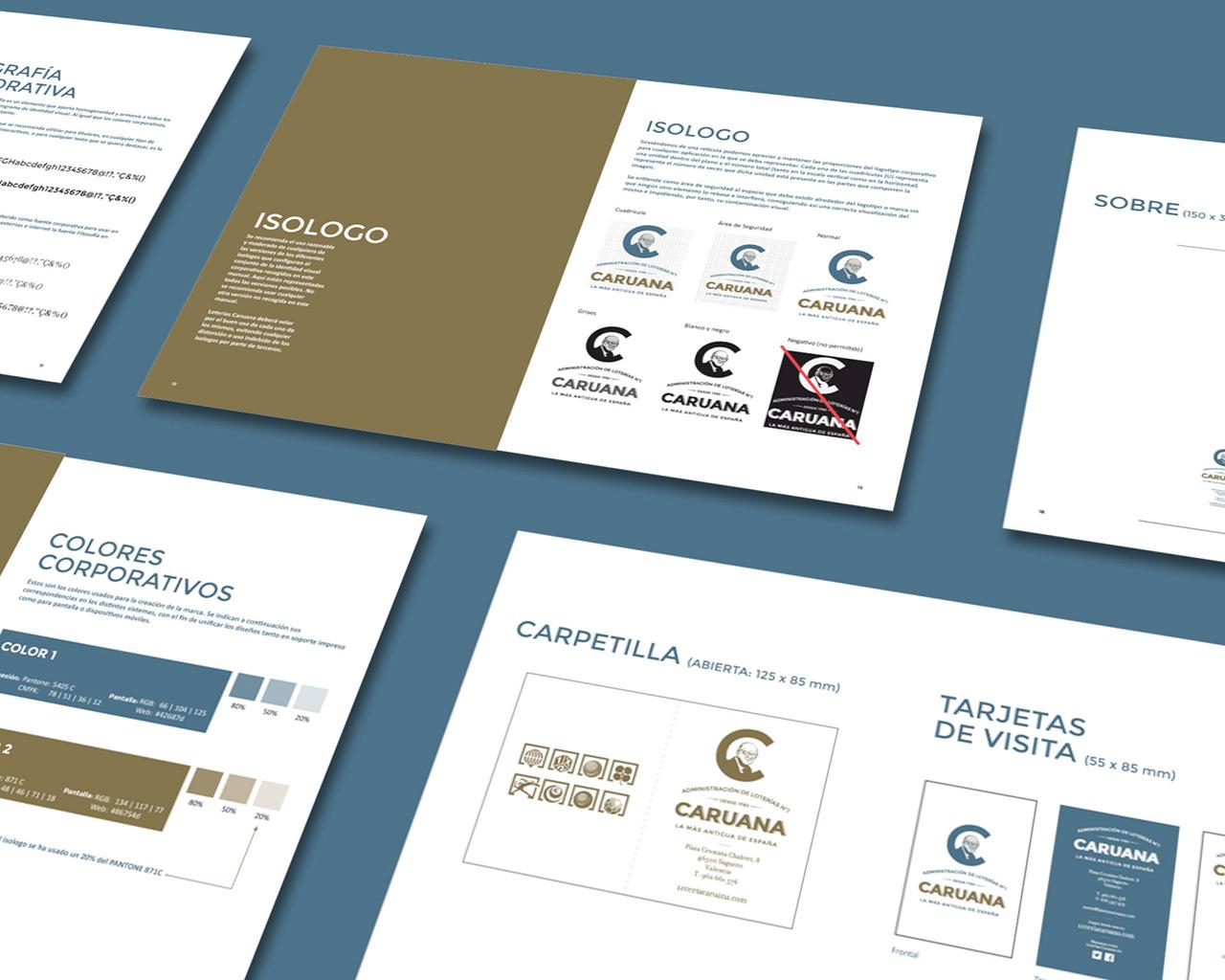Manual de normas de identidad corporativa de Loterías Caruana