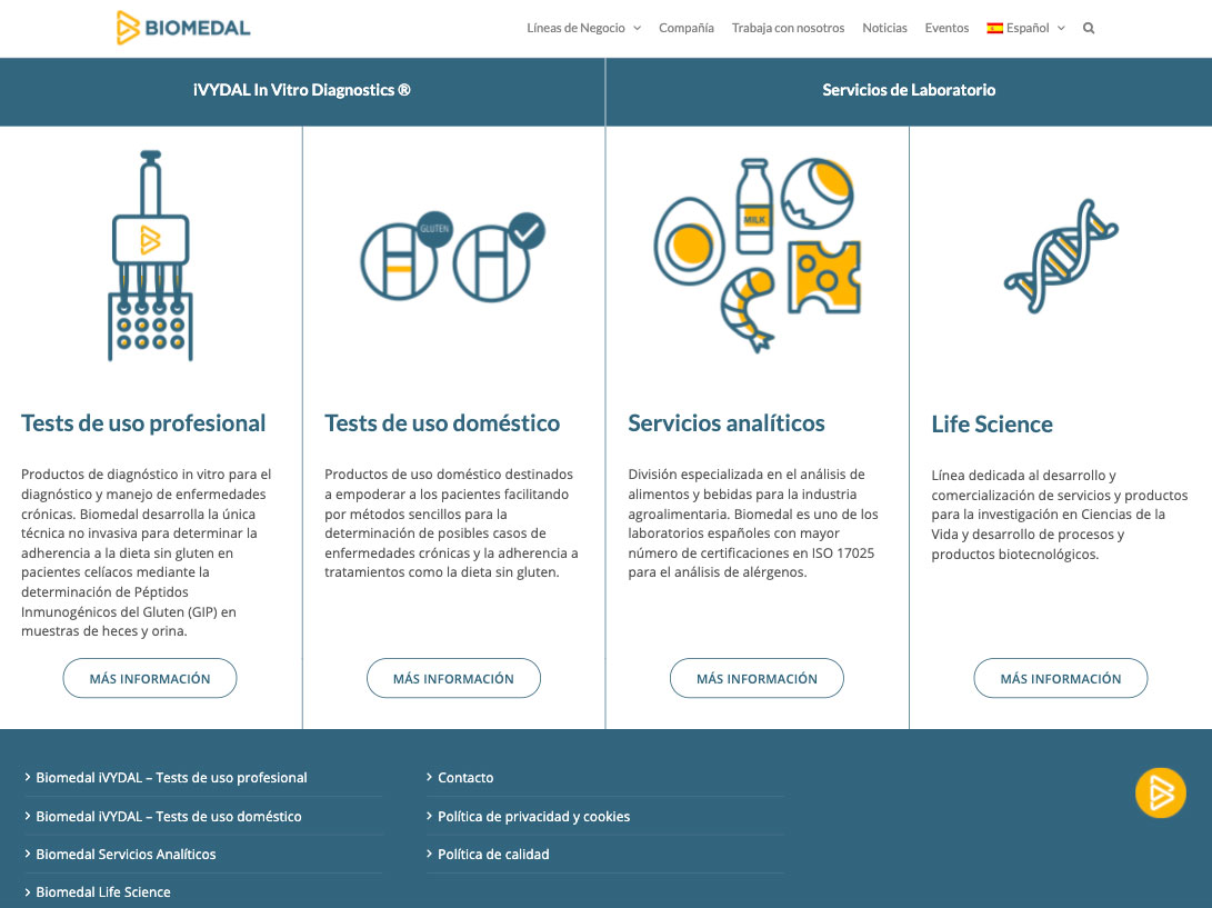 Web de Biomedal