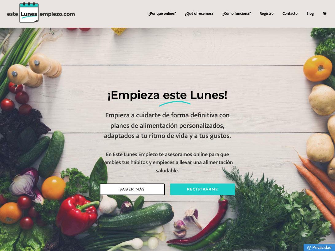 Diseño web de nutricionista