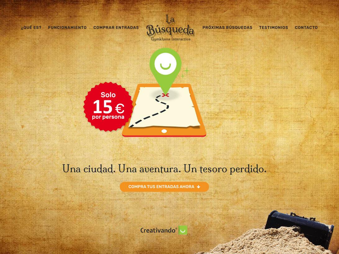 Diseño web de la ghymkana La búsqueda