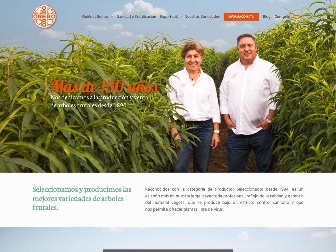 Diseño web Viveros Orero