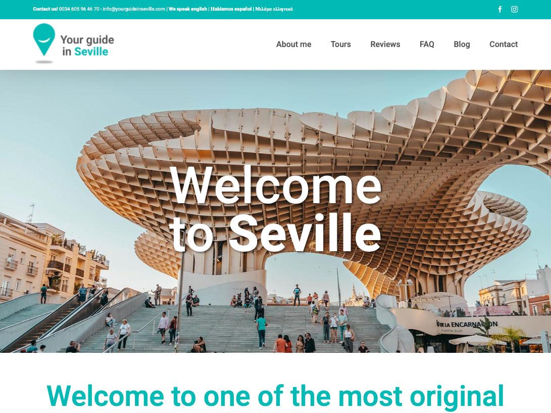 Web para guía turístico Your Guide Iin Seville